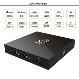 Wholesale Android Game Player Tv - X96 Android 6.0 TV BOX 2GB 16GB 1G Smart Mini PC Amlogic S905X Quad Core H.265 Media Player Wifi HDMI 2.0A Xbox Game 1080P Home Theater