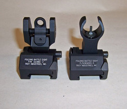 Wholesale Troy Front Rear Sights - New Type TROY INDUSTRIES FRONT & REAR FOLDING SIGHT COMBO free shipping