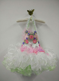 Wholesale Pageant Cup Cake Dresses - 3T-4T Little girl Topper Cake Pageant Dress Sleeveless Asymmetrical Design Cup cake Bottom Organza Kids Party Gown