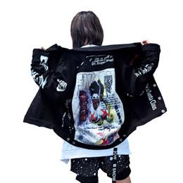 Projeto do remendo da motocicleta on-line-Jaquetas masculinas 2018 Outono Roupas Masculinas Patch Designs Denim Jacket High Street Hip Hop Do Punk Do Vintage Graffiti Cowboy Casaco de moto Outwear