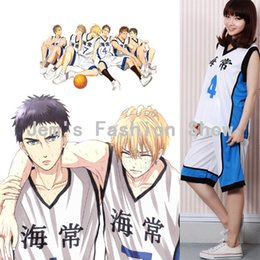 Wholesale Cosplay Wearing School Uniform - Wholesale-Kuroko's Basketball Kuroko no Basuke Cosplay Kaijo School 4 7 Kise Ryota Kasamatsu Yukio Jersey Uniform Unisex Sport Wear