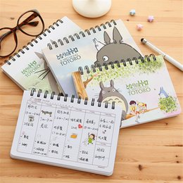 Wholesale Totoro Paper - Wholesale- 1 PCS Cartoon Totoro Weekly Plan Spiral Notebook Agenda For Week Schedule Organizer Planner Cuadernos Office School Supplies