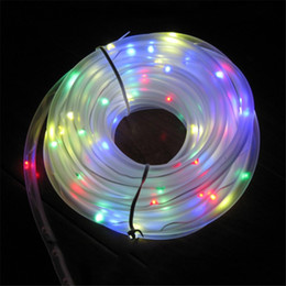 Wholesale Christmas Solar Lights Sale - 50 Led Solar Power Rope Tube String Light Led Fairy Wedding Party Ourdoor Garden 30PCS Hot Sale