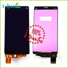 Wholesale Compact Touch Screen Display Panel - LCD Display touch screen with digitizer Assembly For Sony Z3 Mini Compact D5803 D5833 LCD Free shipping