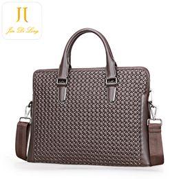 Wholesale Media Magazines - Wholesale Men Bag Hot Denuine Leather Men Briefcase Fashion Laptop Ipad Magazine Stuff Bag Cross Body Factory Price