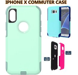 Wholesale Hard Cases For 4s - For Galaxy S8 Commuter 2 in 1 Hybird Case Hard Armor Cover for iPhone 7 6 6plus 5s se 5c 4s Samsung S7 Edge S6 Note5 with Retail Packaging