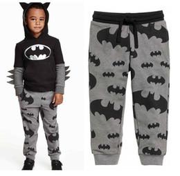 Wholesale Boys Batman Tops - Children Clothing Set Long Sleeve 2016 Outfits Baby Boy Cartoon Batman Tops Hooded Sweatshirt Hoodies+Pants Clothes Suit