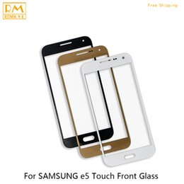 Wholesale Touchscreen Parts - 5pcs lot For Samsung Galaxy E5 E500 E500F E500M, Alpha G850 Front Touchscreen Glass Phone Screen Panel Digitizer Outer Replace Glass Parts