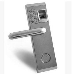 Wholesale Door Locks Electronic Fingerprint - door lock Export the United States anti-theft door lock electronic password fingerprint door lock OS9902 Electronic cipher fingerprint door