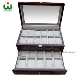 Wholesale Painting Wooden Boxes - Senior Classical Glass Window 22 Grids 2 Layer High Luxury Wooden Paint Watch Box Display Case Organizer,Factory Suppliers and Manufacturers