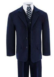 Jungen Anzüge für Hochzeit formellen Anlass junge Anzüge blau klassischen Jungen Anzüge Jungen Blumenmädchen Kleid Anzüge Mode Junge Anzüge (Jacke + Hose + Weste) von Fabrikanten