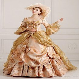 Wholesale Long Dresses For Night Party - Customized 2016 Hot Sale Renaissance Victorian Lolita dress Marie Antoinette Evening Party Dress For Ladies