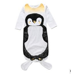 Wholesale Fat Clothes - Mix Baby mermaid sleeping bag Fat penguin sleepwear infants bodysuits Ins 2016 autumn cotton Protect belly Anti-kick 0-1years 1-2years