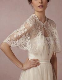 Wholesale Prom Dresses Bolero - Hot Sale Bolero For Prom Bridal Dresses Shawl Sleeves Bridal Wraps Lace Applique Beading Bridal Evening Jacket