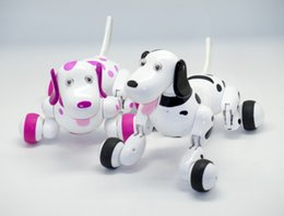 Wholesale Toy Dogs Robots - Smart RC Dogs 2.4GHz Radio Control dogs Electric dog intelligent Pet Animals Educational Robot Dog RC Toys Dancing realistic Dogs