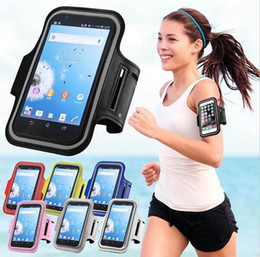 Wholesale Band Phone Covers - 2016 New Sports Gym Running Armband Case movement armlet Protective Cover Arm Band Travel Phone Accessory For 4.7 5 5.5inch phone