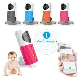 Wholesale Intelligent Ip - Hot wifi baby monitor ip camera Intelligent Alerts Night vision Intercom 720P wifi camera support iOS Android 4.0 above