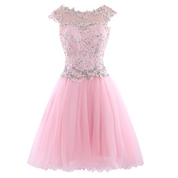 Wholesale Good Quality Prom Dresses - Scoop New Designer high neckline Minit short Homecoming Dress good quality Bridesmaid evening dress party dress Prom gown