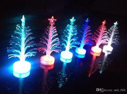 UK led fiber tree - Fiber optic lighting optical fiber tree Colorful Christmas tree led flash toys wholesale luminous three-dimensional fiber trees