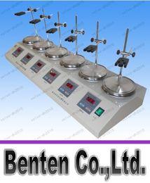 Wholesale magnetic mixer - Free shipping 6 Heads Multi unit units Digital Thermostatic Magnetic Stirrer Hotplate mixer 110V or 220V LLFA