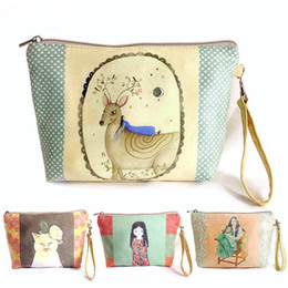 Wholesale Cute Cosmetic Packaging - 2016 new creative cartoon cute coin purse Square mobile phone package Ladies fashion mini bags Cosmetic Bags