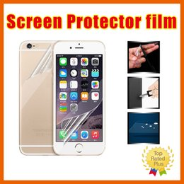 Wholesale Galaxy S4 Mirror - for iPhone 6 6S Plus 5 SE 4 Galaxy S7 S6 Edge S5 S4 Note 5 Transparent Clear LCD Screen Protector Guard Film Cloth