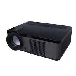 Wholesale Wholesale Home Theater Speakers - HD Projector Mini LED LCD Projectors Portable LED-106 2000 Lumens 3D Home Theater Movie TV Beamer for Game HDMI USB VGA Built-in Speaker