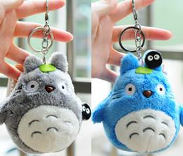 Wholesale Totoro Plush Wholesale - 2 Pcs Lot Mini 10cm , my neighbor totoro plush toy 2017 New kawaii anime totoro keychain toy , stuffed plush totoro doll(Gray and Blue)