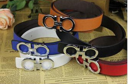 Wholesale Silver Needles - High quality ladies belt drill buckle luxury brand belt designer belt leather waistband for gift