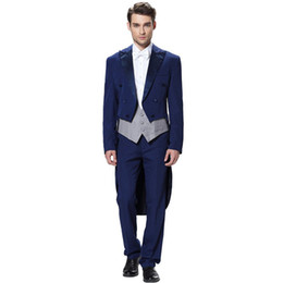 ties for gray suits UK - Tuxedos For Men Formal Men's Groomsman Wedding Suits Custom Fine workmanship 3 pieces (jacket+pants+vest+bow tie) made to order