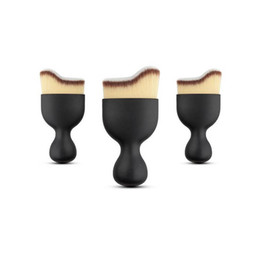 Wholesale Face Loose Powder Brush - Brand new Foundation Brush S Shape Cream Makeup Brushes Loose Powder Brush Multifunctional Make Up Brushes Curved Face Brush
