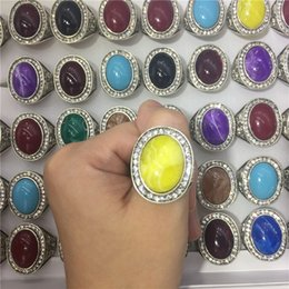 Wholesale Cheap Blue Engagement Rings - 100pcs lot multicolor purple yellow blue resin crystal rings for women size cheap-clothes-china jewelry size 7-11