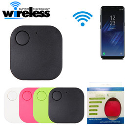 Wholesale Keychain Lost Alarm - NEW Mini Triangle Wireless Smart Tag Bluetooth Anti Lost Alarm Tracker 5 Colors Available GPS Locator Alarm Keychain