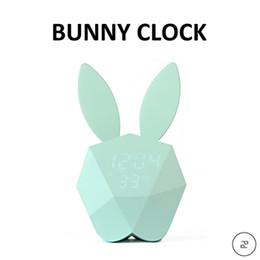 Wholesale Rabbit Temperature - Voice Control LED Alarm Clock Display Temperature and Calendar Snooze Sleep Function Decor Desktop Table Rabbit Clock Bedroom