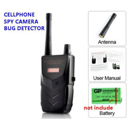Wholesale Wireless Signal Detectors - 20-6000mhz Wireless RF Signal Audio Bug Tap Video Camera Anti-spy Cell Phone Hidden Camera Detector Sound and LED Alarm Bug Detect Detecting