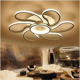 2019 55 montaggio Nuovo plafoniera moderna a soffitto a soffitto in alluminio bizzarro lampadari a soffitto di illuminazione dia 45/55 / 80cm per soggiorno camera da letto I 55 montaggio economici
