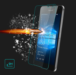 tempered glass cleaner 2018 - Wholesale-0.20mm High Clear Explosion-proof Front LCD Tempered Glass Film for Microsoft Lumia 650 Screen Protector with Clean Tools