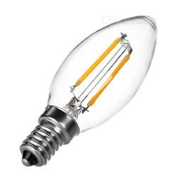 piccoli pulsanti di commutazione Sconti 10pcs / lot 110V 220V LED filamento della lampadina LED candela filamento della lampadina 2W 4W E14, bianco caldo / freddo, A forma di candela per Indoor C35