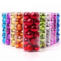 Wholesale F 24 - Christmas balls light 4 cm 24 pcs Christmas balls The Christmas tree decoration ball 0.25 kg B0763