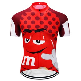 Wholesale Maillot Cycling - Crossrider M&M Funny cycling jersey Mtb Retro Bicycle Clothing cartoon Bike Wear Clothes Short Maillot Roupa Ropa De Ciclismo Hombre Verano