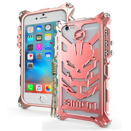 Wholesale Iphone Heavy Duty Metal Case - Thor Luxury Heavy Duty Armor Metal Aluminum Skull Mobile Phone Bags Cases cover for Apple iPhone 5 5s se 6 6s 7 8 plus