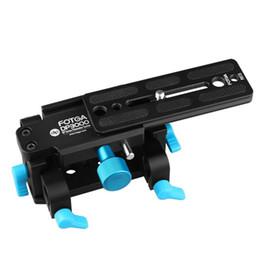 Wholesale Quick Release Mount Plate - FOTGA Tripod Mount Quick-Release Safety Base Plate for 15mm Rod Rail DSLR FF Rig
