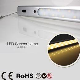 Wholesale Lighting Ir Sensors - Wholesale-LED Sensor Lamp 50cm DC12V 30Leds 5050 IR Sense Indoor Light For Cabinet drawer