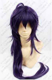 Wholesale Cosplay Dark Purple Straight Wig - 100% Hot Sell Brazil dark-haired woman wig cosplay Heat Resistant synthetic>>>>>Hot sell! Magi Sinbad Purple Mix Long Cosplay Wig