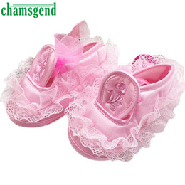 Wholesale Baby Boys Bottoms - Wholesale- Hot Chamsgend Toddler Kid Baby Girl Embroidered Lace Soft Bottom Newborn Walking Shoes Levert Dropship Jan11
