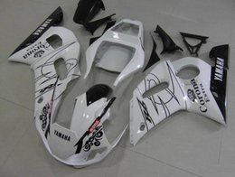 Wholesale Corona Black - 3 Free gifts New ABS Fairing Kits 100% Fitment For YAMAHA YZF-R6 98-02 YZF600 1998 1999 2000 2001 2002 bodywork set white black corona