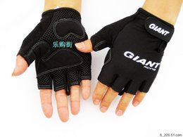 Wholesale Fingerless Baseball Glove - 2016 Bike Gloves giant Half Finger Cycling Gloves MTB Bicycle Spring Off Road Motocross Gloves Guantes Ciclismo M-XL