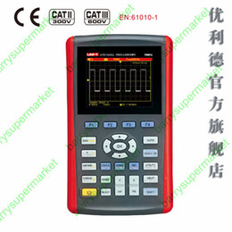 Wholesale Single Channel Oscilloscope - Wholesale-UTD1025CL Handheld oscilloscope 25MHz Single Channel 200Ms s 320X240 3.5 inches LCD USB Oscilloscope