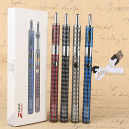 Wholesale Cool Vape Batteries - Vape UGO T2 Best Cool Ecig Kit 1300mAh Variable Wattage Battery with Airflow Control Vaporizer vape pens Electronic Cigarette kits
