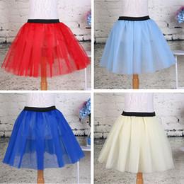 Wholesale Soft Fluffy Tutu - 2016 Summer Lovely Fluffy Soft Tulle Girls Tutu Skirt Pettiskirt Skirts for 3-7 Y Kids Clothes